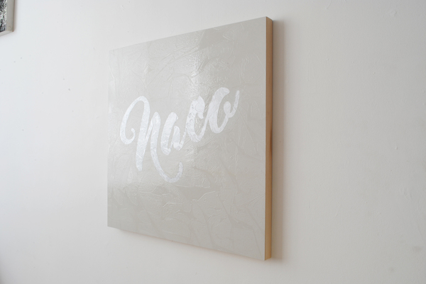 #OLIVIEPONCE  Words Alkyd paint on woodpanel