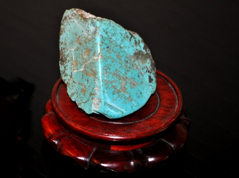 Bradley H. Olsen-Ecker Turquoise Scupture Turquoise Sculpture