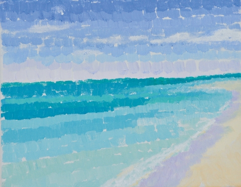 Bradley H. Olsen-Ecker Key West to F. Lauderdale Plein-Air Seascapes Acrylic on canvas