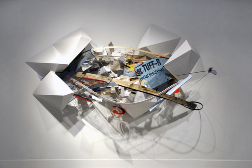 Jenniffer Omaitz Hypothetical Constructs & Translucent Boundaries: with Andy Curlowe, (Adrian, MI) Mixed Media Installation