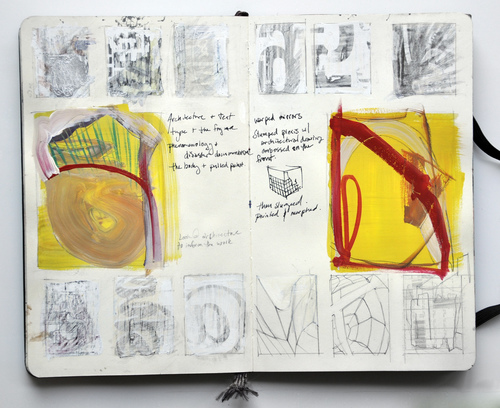 Jenniffer Omaitz Abstract Sketchbook Pages