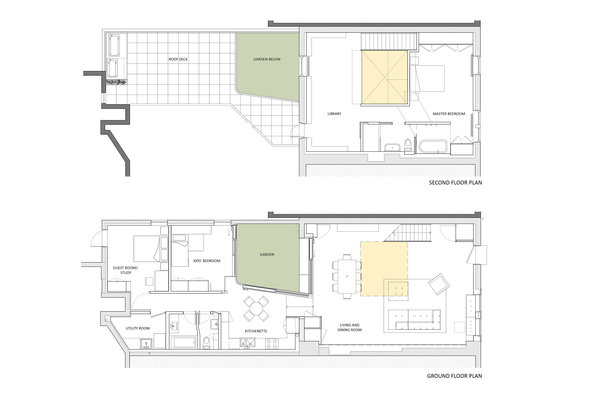 Clinton Hill Courtyard House Building Plans