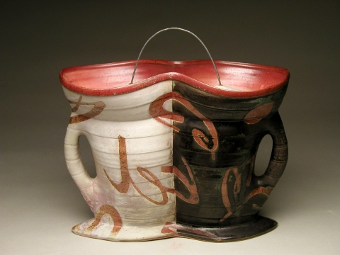 James Lawton Vessel Works wood-fired stoneware, wire