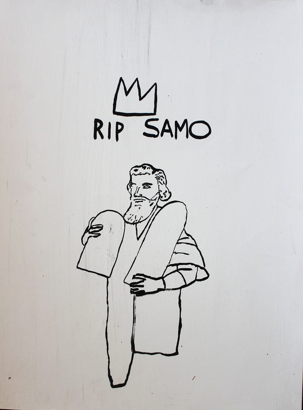 Palette Online ArtSpace Chris Lee: R.I.P. SAMO and Other Stories, The Semiotics of Basquiat Ink on gessoed paper unframed
