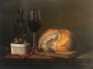 Still Lifes by Marybeth Hucker    5/22-6/15/20 Bread and Olives