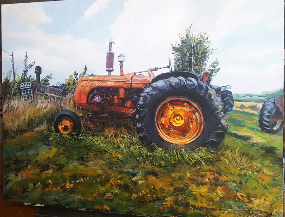 "Ray Guzman - Paintings      7/8/7/31/20 Tractor ""T1 IN THE FIELD"""