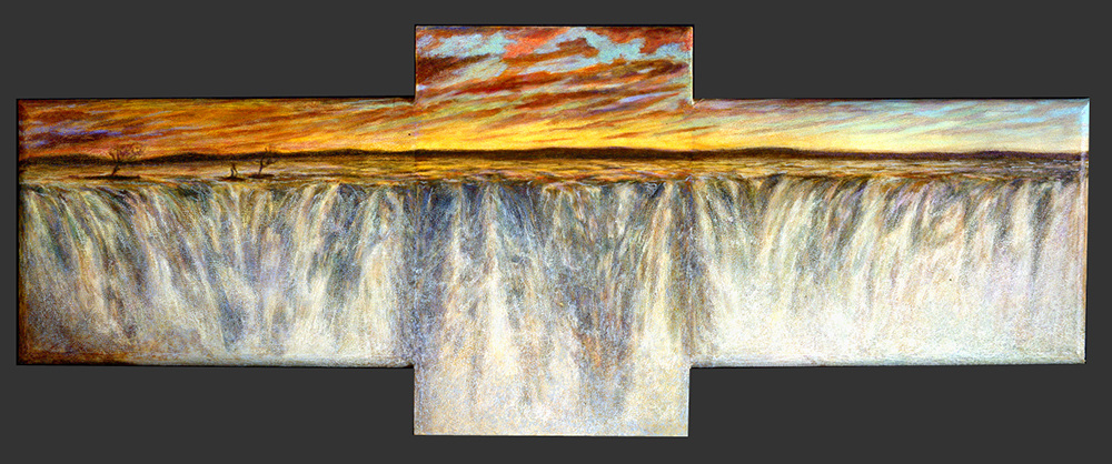 Ray Guzman - Paintings      7/8/7/31/20 Waterfall Triology