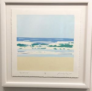 "Palette Online ArtSpace Ricardo Roig: Asbury Park Views (etc)"" - Nov 2017 Handcut screen print"
