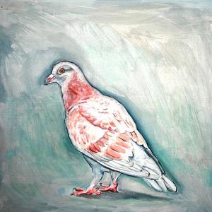 Palette Online ArtSpace Lynda D'Amico: For The Love of Pigeons Oil on wood