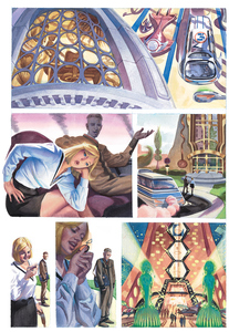 Palette Online ArtSpace Steve Rude: Comics to Canvas     Thru 12/31/20 Watercolor on watercolor paper