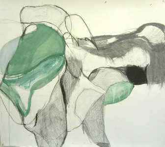 Pam Cardwell Drawing - 2002 - 2007 graphite, watercolor on paper