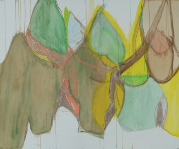 Pam Cardwell Drawing - 2002 - 2007 watercolor, crayon on paper