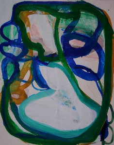 Pam Cardwell Drawing - 2008 - 2011 ink, oil pastel on paper