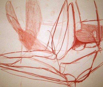 Pam Cardwell Drawing - 2002 - 2007 sanguine on paper