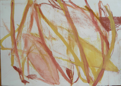 Pam Cardwell Drawing - 2002 - 2007 sanguine, gouache on paper