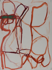 Pam Cardwell Drawing - 2008 - 2011 oil stick, ink on paper