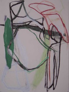 Pam Cardwell Drawing - 2008 - 2011 oil stick, graphite on paper