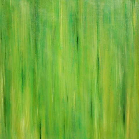 Older Works paintings All Things Flow (green)