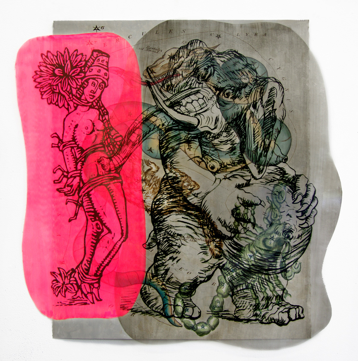 Pamela Joseph WORKS ON PAPER Mixed Media and Acrylic on Acetate and Paper