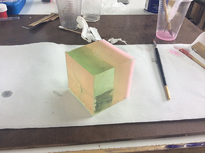 PAN  GE Resin Cube Test
