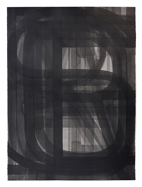 Pat Boas Unalphabetic Sumi ink on paper