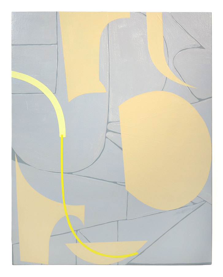 Painting Untitled (gray, warm gray, naples yellow, light yellow and green-yellow)
