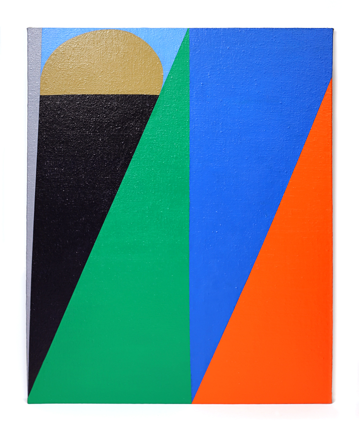 Painting Untitled (grey triangle)