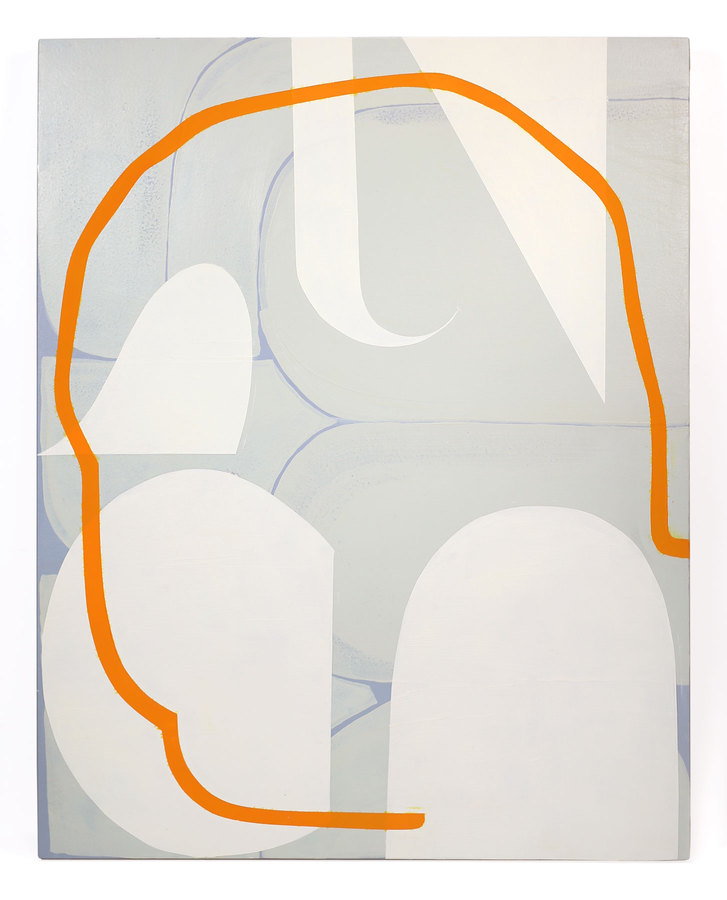 Work Untitled (blue-gray, green-gray, cream and orange)
