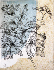 Pat Cresson + Recent Fine Art Work > Intaglio Prints Collograph and plexiglass etching on rice paper