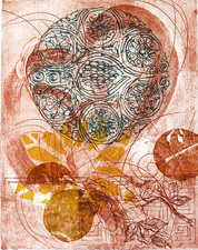 Pat Cresson + Recent Fine Art Work > Intaglio Prints Collograph and plexiglass etching on BFK