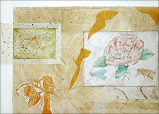 Pat Cresson + Recent Fine Art Work > Intaglio Prints Intaglio, etching and chine colle