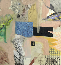 Pat Cresson +  Recent Work > Oil/Wax Painting on Wood Panels oilwax/collage on birch cradle