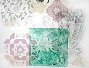 Pat Cresson + Recent Fine Art Work > Intaglio Prints Intaglio, digital image and drypoint