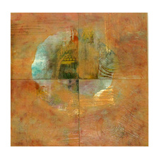 Pat Cresson +  Recent Work > Oil Painting and Mixed Media oil, wax, gold leaf and mixed media on birch panel