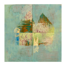 Pat Cresson +  Recent Work > Oil/Wax Painting on Wood Panels oil, wax, gold leaf and mixed media on birch panel