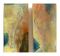 "Pat Cresson +  Recent Work > Oil/Wax Painting on Wood Panels 12"" x 12"""