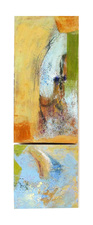Pat Cresson +  Recent Work > Oil/Wax Painting on Wood Panels oil and wax and mixed media on birch panels