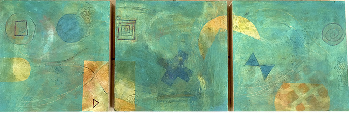 Pat Cresson +  Recent Work > Oil/Wax Painting on Wood Panels oil, wax and mixed media on birch panel