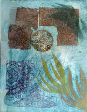 Pat Cresson + Recent  Work > Movable Monoprints intaglio/collograph monoprint