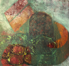 PAT CRESSON +  Recent Work > Oil/Wax Painting on Wood Panels oil/cold wax on wood panel