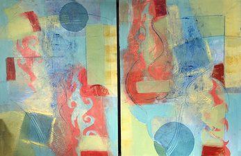 Pat Cresson +  Recent Work > Oil/Wax Painting on Wood Panels oil and cold wax on panel