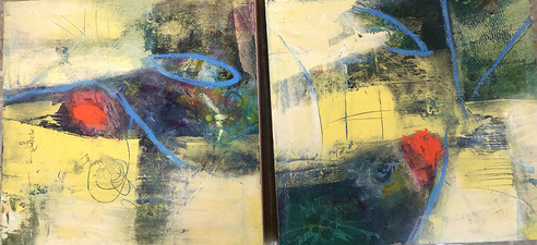 PAT CRESSON +  Recent Work > Oil/Wax Painting on Wood Panels oil, wax on wood panel