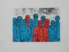 Patricia Dahlman Collaborative Prints wood cut print
