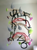 Patricia Dahlman Sculptures canvas, cloth, thread, stuffing, wire, yarn