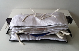 Patricia Dahlman Sculptures canvas, wire, cloth, thread, stuffing