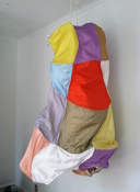Patricia Dahlman Sculptures canvas, wire, thread, fabric