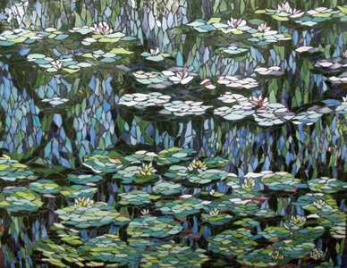 Patricia Rockwood Mosaics: Selected Corporate & Private Commissions Stained glass, on wood