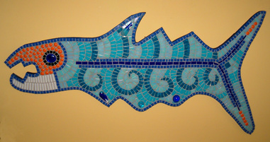 Patricia Rockwood Mosaics: Selected Corporate & Private Commissions Glass and ceramic tile, glass gems, on wood