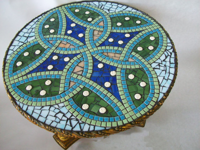 Patricia Rockwood Mosaics: Objects Glass and ceramic tile on wood