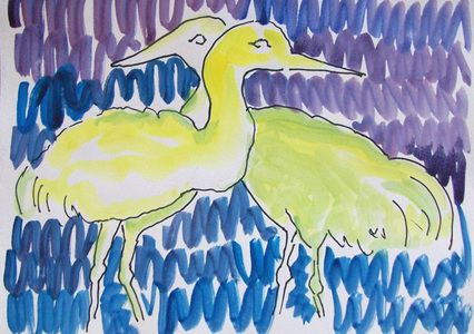 Patricia Rockwood Works on Paper: Archive Ink, watercolor